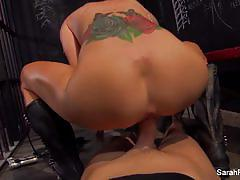 Racy sarah jessie fucked from behind