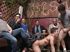 Hot stud humiliated by gang