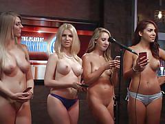 Topless girls rock the morning show @ season 15 ep. 728
