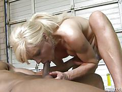 Hot shemale has eyes on a big black dick @ she male reform school #11