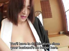 Uncensored mourning japanese milf with hairy slit subtitled