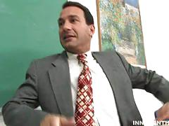 Danni cole gets nailed by her teacher and a facial
