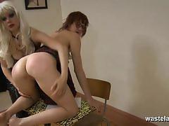 Kinky babes enjoy lesbian bdsm