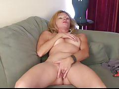blonde, masturbation, solo, strip, mature