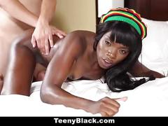 Teenyblack - petite black teen shows off her skills
