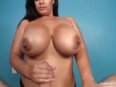 Big cumblast for the huge-titted lady
