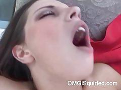 Missy stone squirting on the balcony