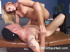Darryl hanah squirts and her doctor screws her