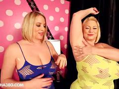 2 huge tit bbws bounce and titty bump each other
