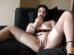 Elegant lucia love masturbating