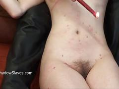 Tied slave honesty cabellero whipped and hot wax punished in hard homemade bdsm