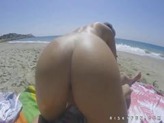 Desert public sex with hot porn model