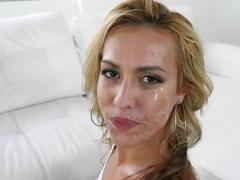 Kelsie so beautiful with cum facial drips