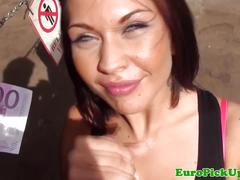 Pulled eurobabe cocksucking and facialized