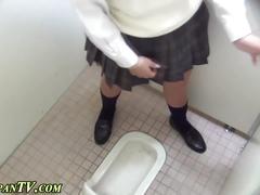 Japanese schoolgirl pees