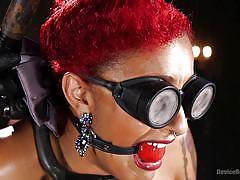 bdsm, torture, redhead, blindfolded, ball gag, device bondage, device bondage, kink, daisy ducati, the pope