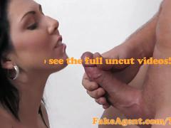 Fakeagent horny raven haired amateur fucked hard then spunked on