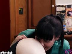 Dana dearmond strap fucks her young lesbian kitten