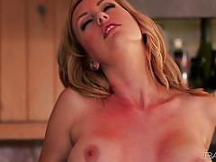 Sweet and sugary brett rossi kitchen masturbation