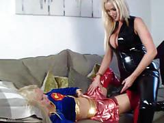 big tits, blonde, milf, babe, lesbian, girl on girl, big boobs, strap on, latex, costume, licking pussy, pussy eating