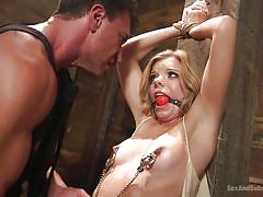 Slutty trisha gets bonded with ropes