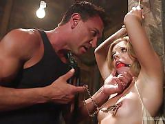 small tits, bdsm, torture, whipping, submission, blonde babe, ball gag, nipple clamps, rope bondage, sex and submission, kink, trisha parks, marco banderas