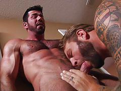 Gay men with sexy beards fucking hard
