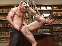 Blindfolded stud gets fucked hard