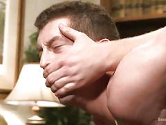 hanging, library, blindfolded, gay bdsm, gay blowjob, anal gay, gay domination, rope bondage, bound gods, kink men, drake tyler, connor maguire