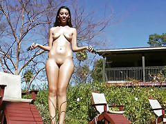 solo, masturbation, sport, freak, spying, outdoors, swimming area, sex toy, busty babe, she's a freak, mofos network, nadia noel
