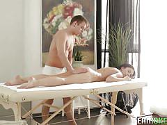 Naked nora gets seduced by horny masseur