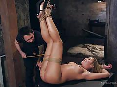 blonde, bdsm, babe, rough sex, tied up, submission, rope bondage, ass whiping, sex and submission, kink, tommy pistol, blair williams