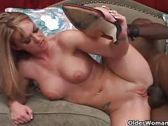 Blonde soccer mom gets anal sex