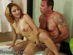 Nuru masseuse rides cock hd