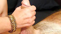 amateur, jennyandjoey.com, homemade, natural tits, perky nipples, cock stroking, handjob, dick tugging, worship, cumshot, jizz in mouth, swallow, oral creampie, orgasm