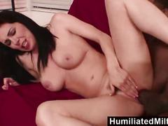 Humiliated milfs - horny milf takes on a huge black cock