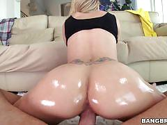 Jessa rhodes gags on his thick cock