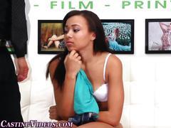 Black teen in lingerie