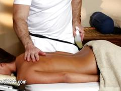 Poor babes penetrated hard in special masseur  segment