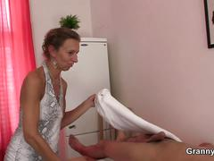 granny, mature, blowjob, handjob, massage, more