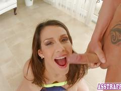 Samia duarte enjoys an anal threesome with two horny men