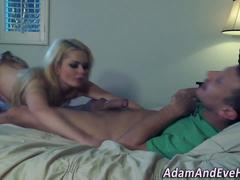 Blonde babe gets facial