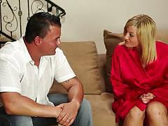 Ashden wells slobbers on her clients dick
