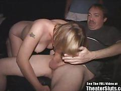 Big tit blonde sally enjoys strange sex