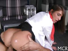 Brunette slut riding the cock and she has an orgasm