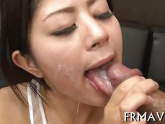 Sucking that cock and she loves to be cumshot
