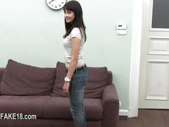 Sexy and cute teen ha a casting session she annihilates