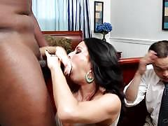 veronica avluv, brunette, blowjob, riding, big tits, doggystyle, cumshot, facial, deep throat, milf, reverse cowgirl, interracial, watching, cowgirl, gagging, husband, spooning, sucking, black cock, bbc