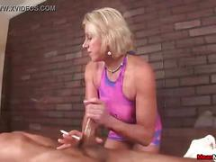 Mm-smoking handjob