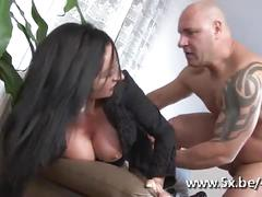 Brunette riding a big cock after getting her pussy eaten